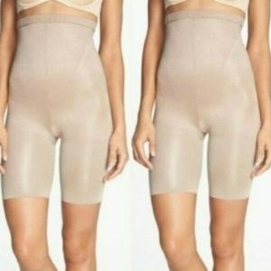 BOGO Spanx In Power Beige Shaper High Waist Shorts